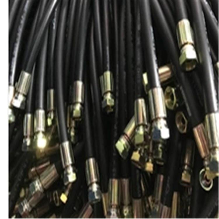 可按需求加工定制叉车用高压橡胶软管 优质高压钢丝编织胶管 耐油编织液压油管