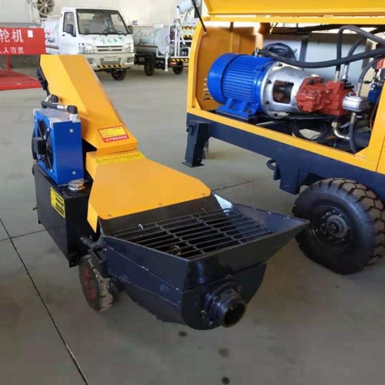 厂家直销混凝土输送泵 50柴油版大功率细石泵 乐众机械