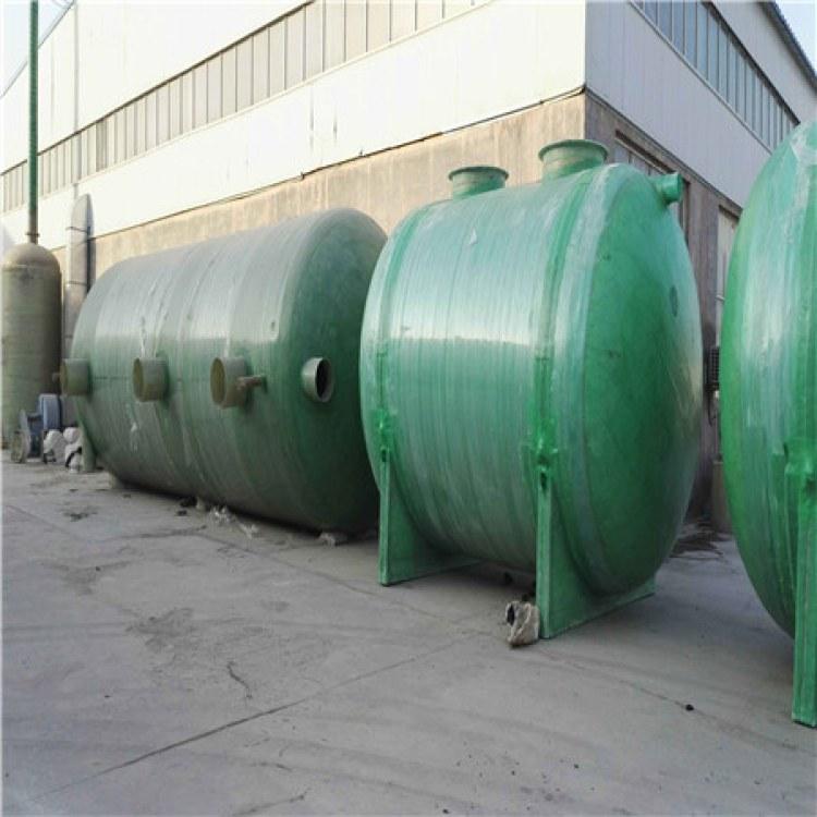 家用三格工程成品玻璃钢缠绕化粪池机械及行业设备污水处理成套
