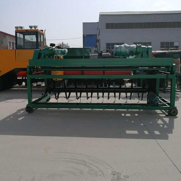 郑州科农  年产5万吨猪粪有机肥生产线设备的工艺流程  牛粪有机肥发酵翻抛机