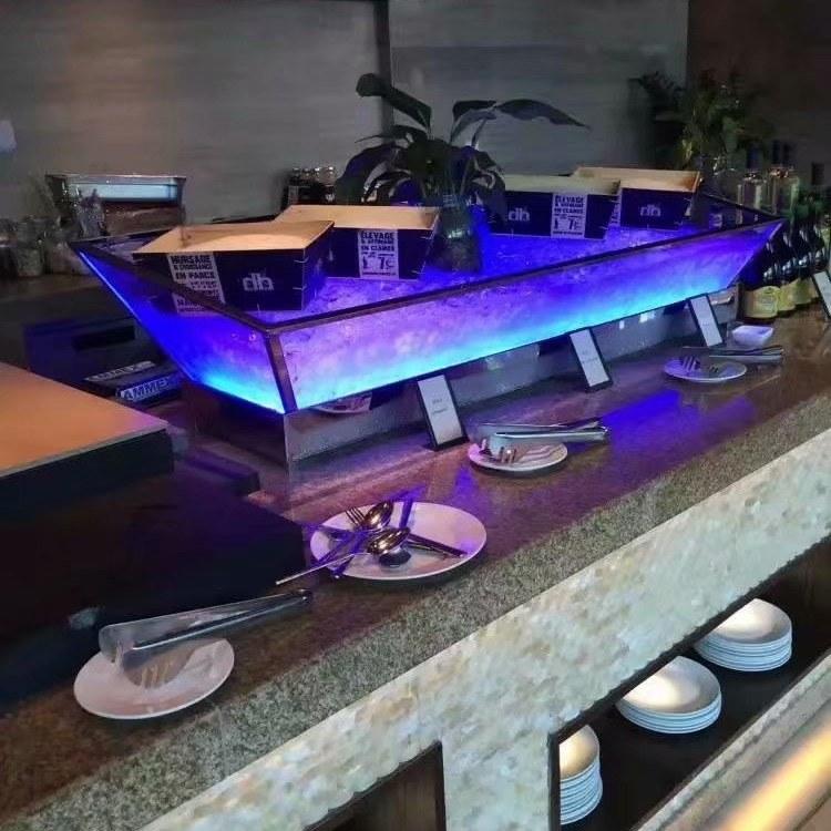广州尊尚厂家直销 冰槽 LED灯光冰槽 冰盘 价格优惠 公司实力强