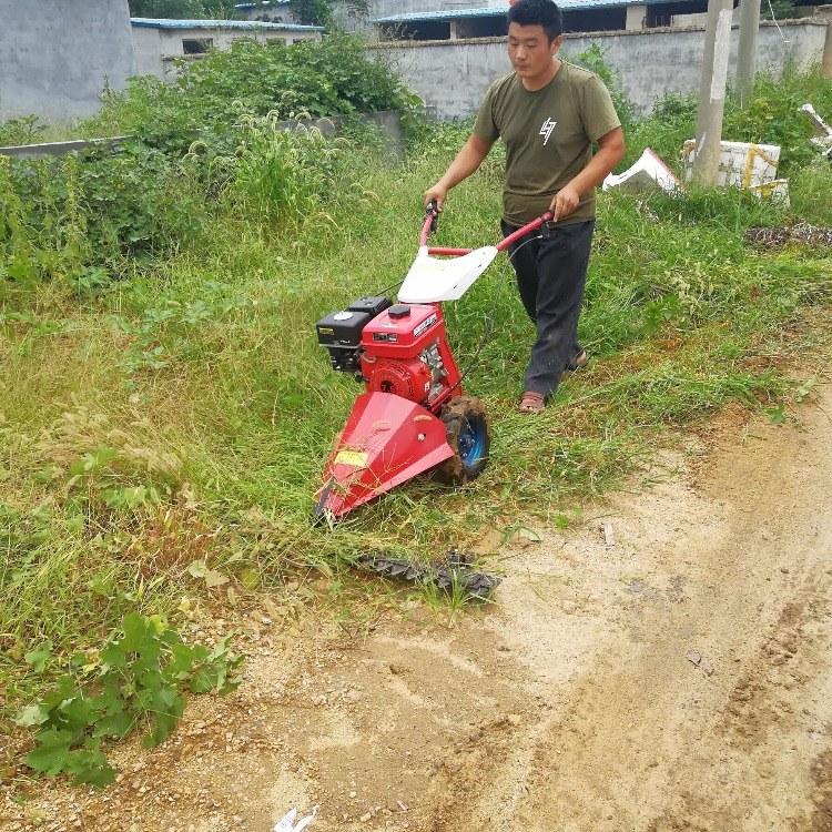 手推式小型割草机 自走式剪草机 大面积清理杂草割草机