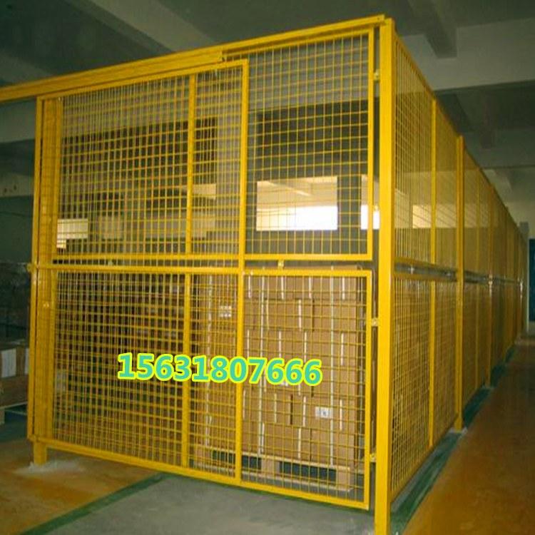 松鹤防护网 移动车间隔离网 车间机器隔离网 移动防护网