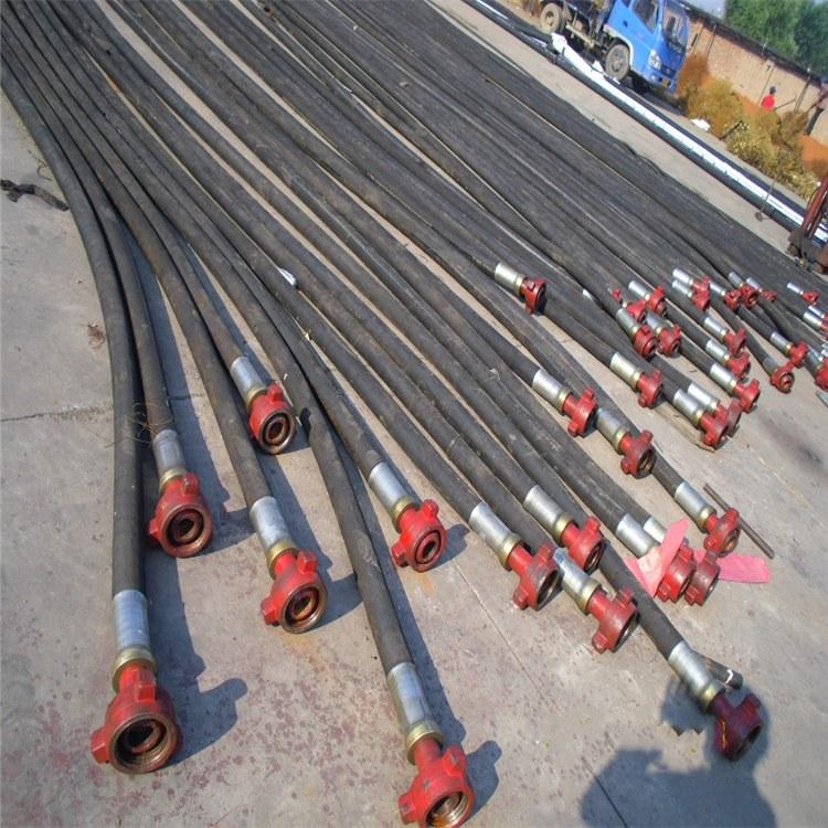 专业生产油田开采专用高压钢丝缠绕油管 油田输油胶管 钻井水龙带
