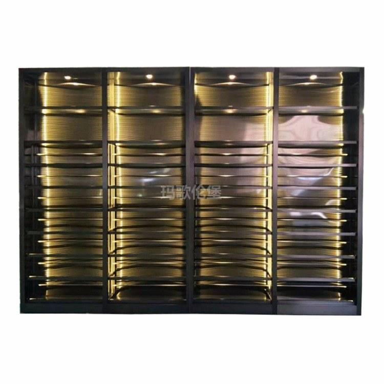 大型酒柜-恒温红酒柜-不锈钢恒温红酒柜-客厅酒柜-玛歌伦堡酒柜
