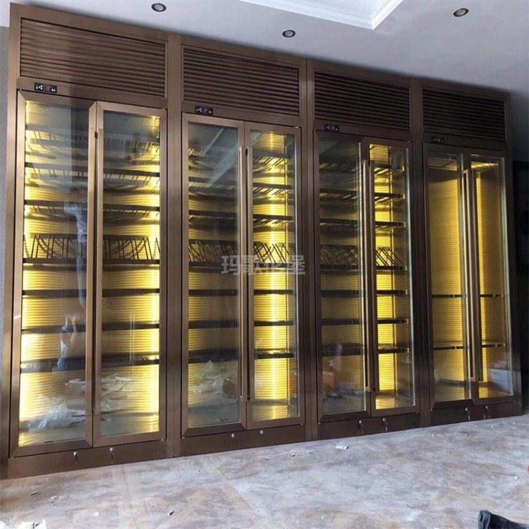 直冷式酒柜-定制不锈钢恒温酒柜-玛歌伦堡