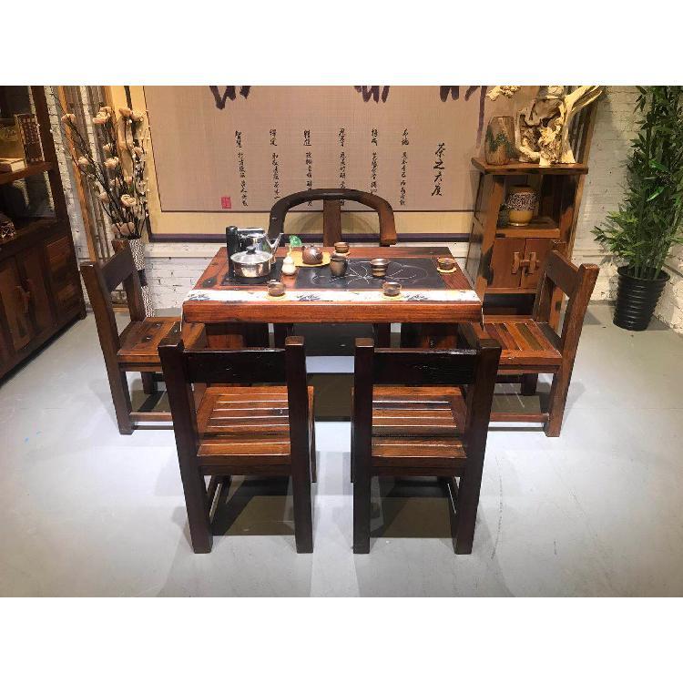 海南海口家用茶桌海螺孔茶桌茶艺桌