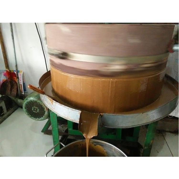 芝麻酱机  打花生酱机器   电动花生酱石磨厂家