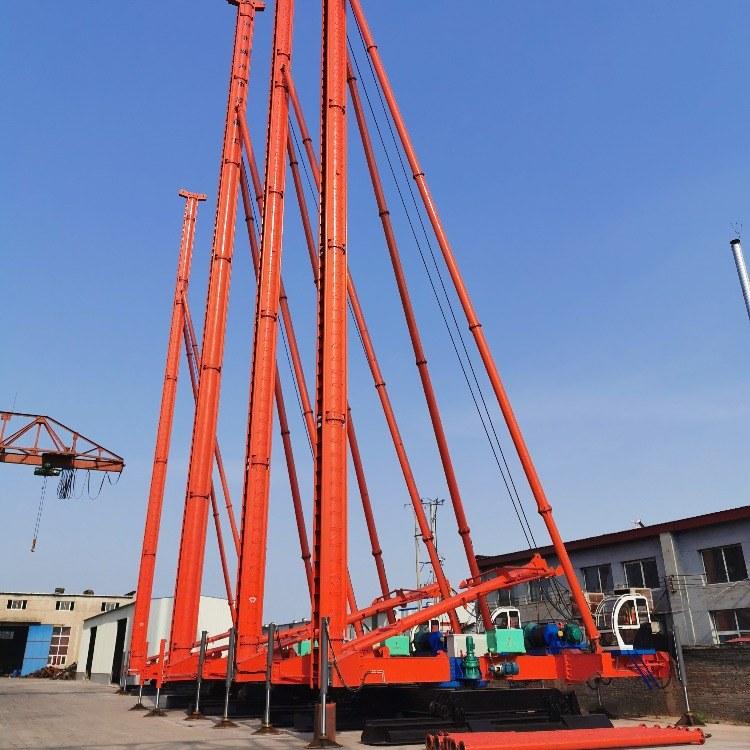 中原桩工专业制造各种型号长螺旋打桩机长螺旋钻孔机出土快效率高