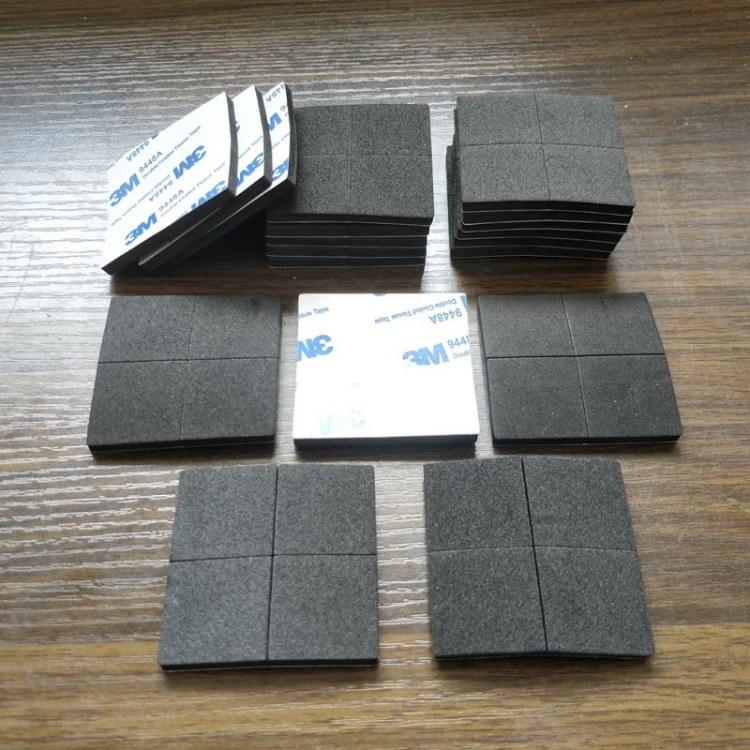 黑色海绵脚垫 单面背胶自粘EVA泡棉垫片 EVA海绵垫定做