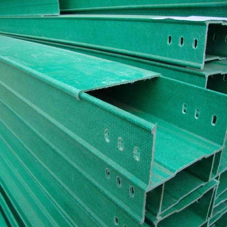 槽式电缆桥架支架报价 防火防腐蚀线槽 梯式玻璃钢拉挤电缆桥架价格
