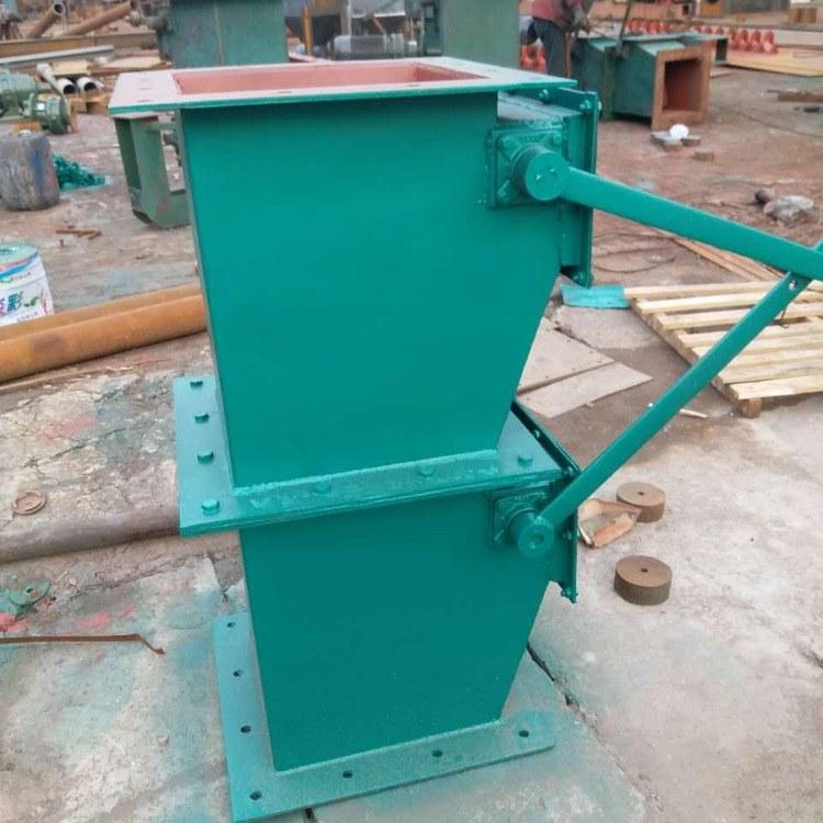 国威直销  耐磨通风卸灰阀 电动重锤锁气翻板阀 焊接单层双层翻板阀