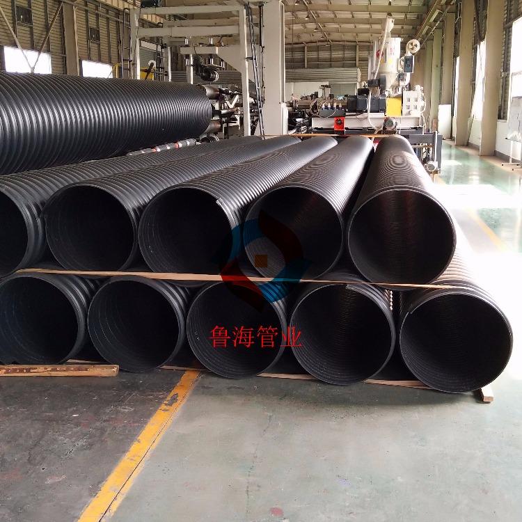 营口钢带增强螺旋波纹管PE钢带增强螺旋波纹管优质管道