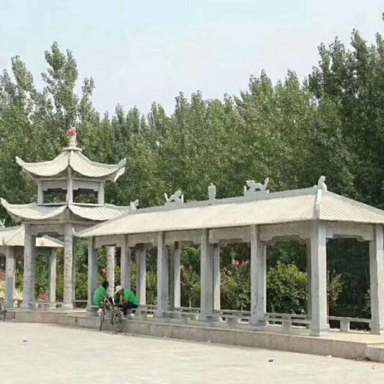 山东嘉祥腾兴石雕厂专业制作安装石凉亭厂家