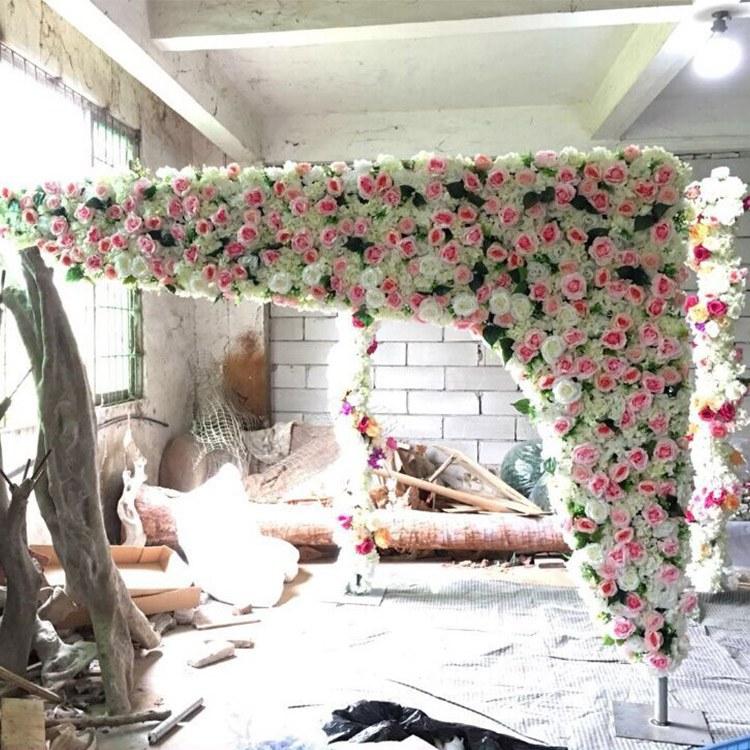 无锡仿真花墙假花墙面生产厂家 婚庆装饰假花植物墙批发