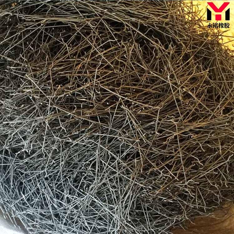 端钩粘排钢纤维 端钩成排钢纤维厂家生产批发