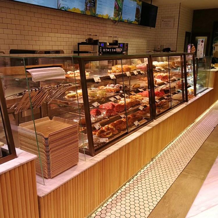 万川展柜 定制 面包柜  高档木质烤漆柜仿实木柜子  万川展柜