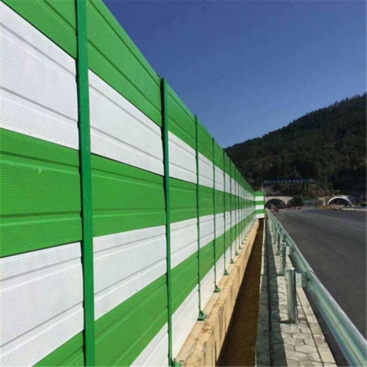 高速桥防护栏隔音屏障天桥用pvc声屏障高速隔音
