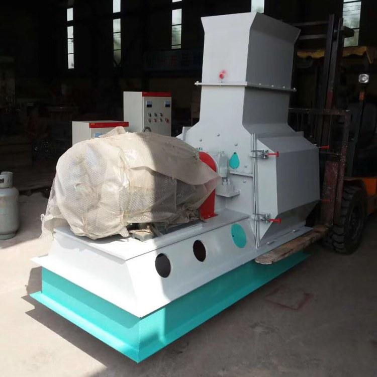 木材粉碎机自动进料绿尚高效锤片式木材粉碎机价格