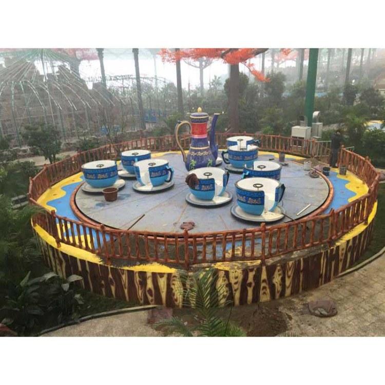 巨龙厂价定制咖啡旋转杯 儿童公园游乐设备旋转咖啡杯
