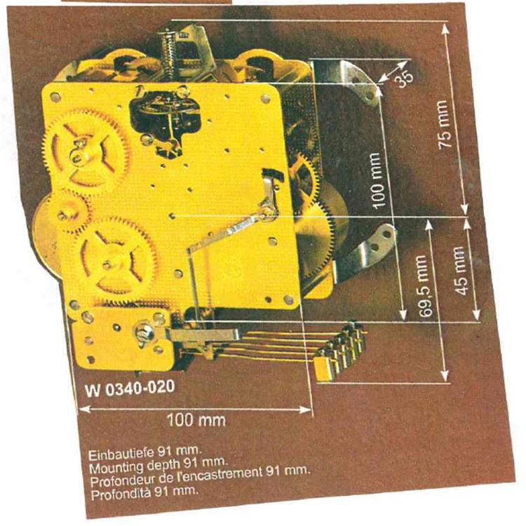 德国进口机芯 Franz Hermle赫姆勒机械钟 W340型进口供应 品质保障