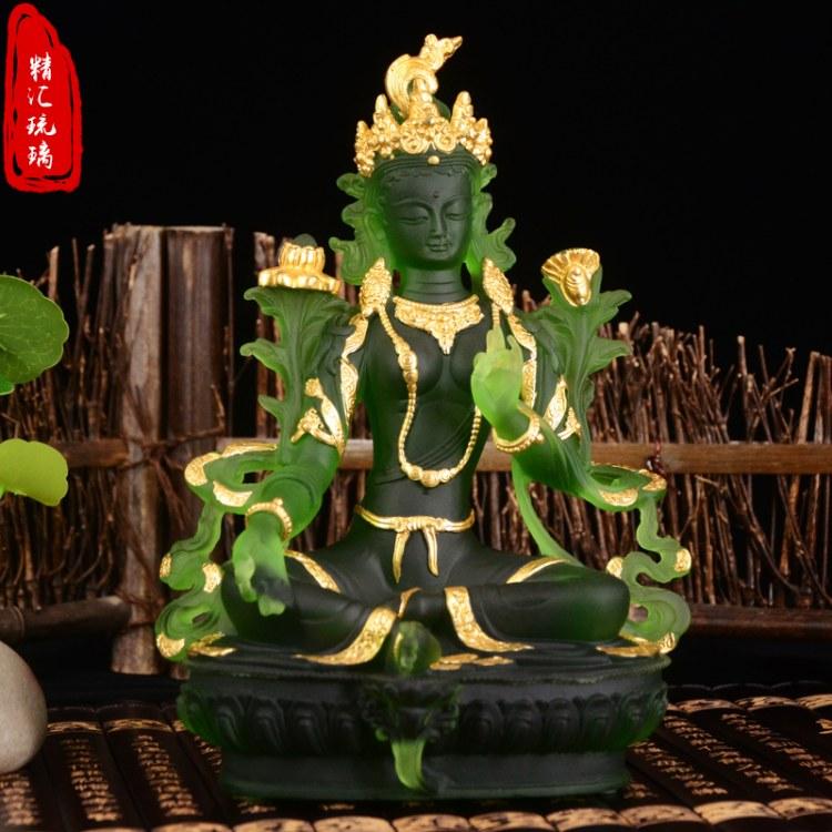 广州古法琉璃生产厂家,寺庙定做琉璃万佛墙