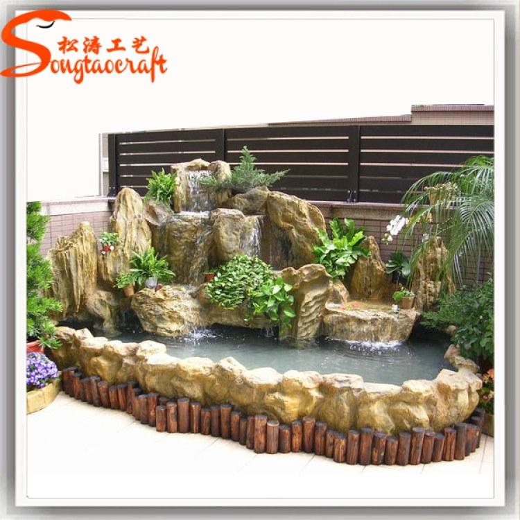 济南假山石制作批发假山王国公园的假山厂家大型假山流水喷泉