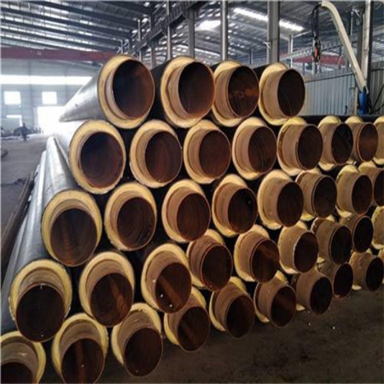预制直埋聚氨酯保温钢管 小口径钢套缸保温钢管