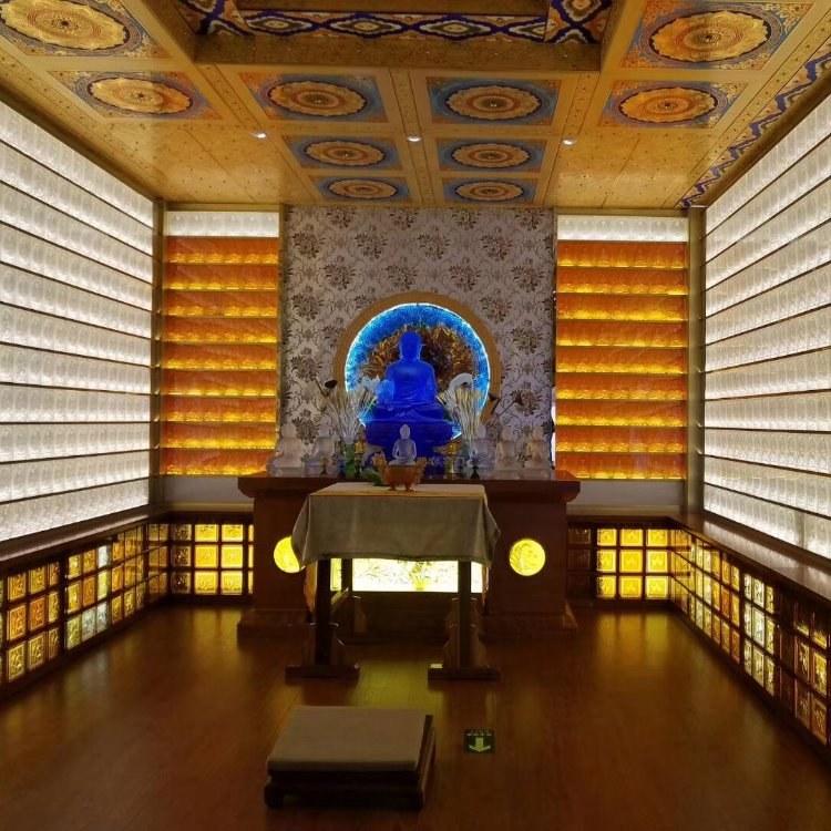 寺庙古法琉璃佛像厂家,琉璃万佛墙定做
