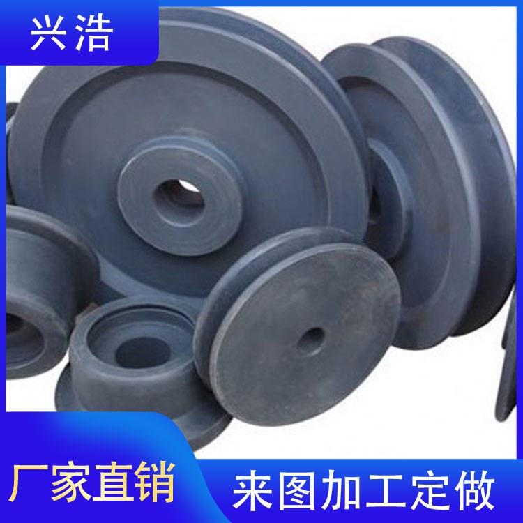 兴浩加工定制MC尼龙轮 dn100耐磨轴承尼龙轮