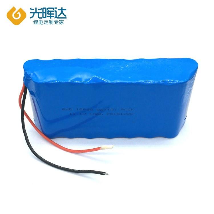 生产厂家生产18650圆柱锂电池11.1V锂电池10Ah串联并联锂电池组 医疗设备电池定制