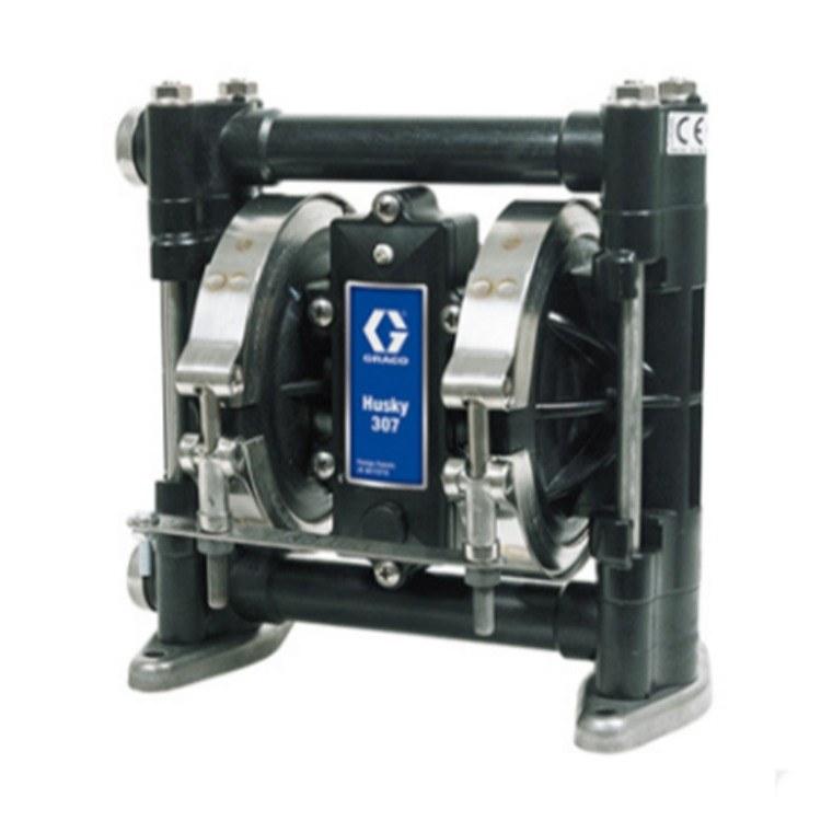 装业销售美国GRACO固瑞克 Husky307气动隔乙缩醛塑料双隔膜泵
