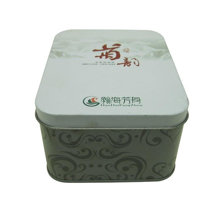 佛山厂家生产订做两片扣底长方形菊花茶叶铁罐