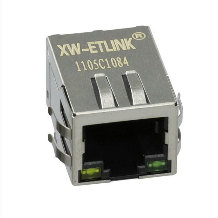 【迅旺电子】厂家供应XWRJ-1105C1084 带灯带POE供电