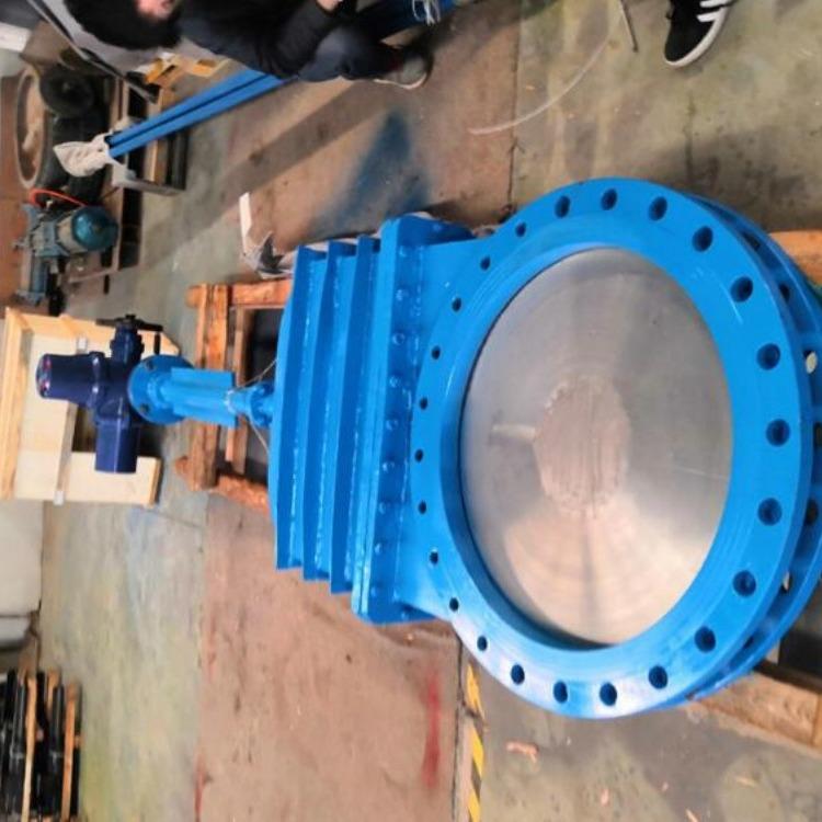 轩诚阀门厂专业生产  陶瓷刀闸阀  PZL73H链轮对夹式刀型闸阀