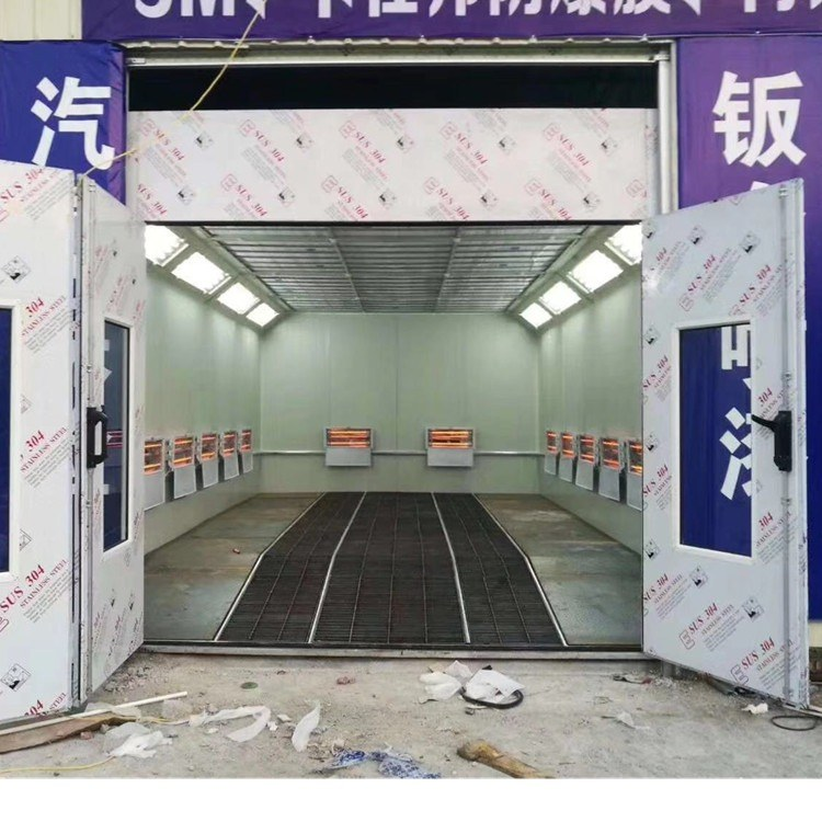 山东厂家直销五金件喷烤漆房 不易燃环保标准烤漆房 汽车烤漆房