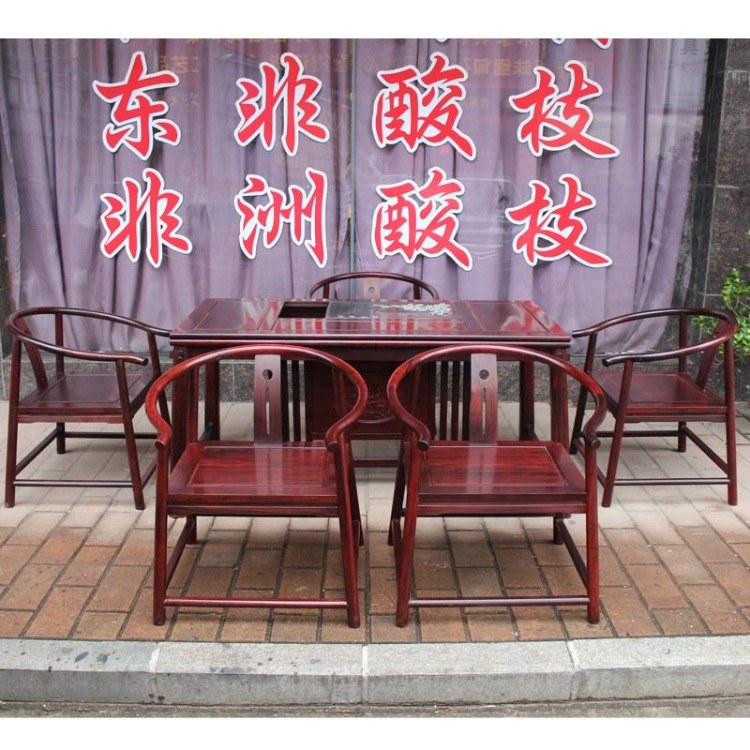福联居红木家具茶室泡茶桌功夫茶台桌椅组合 价格面议