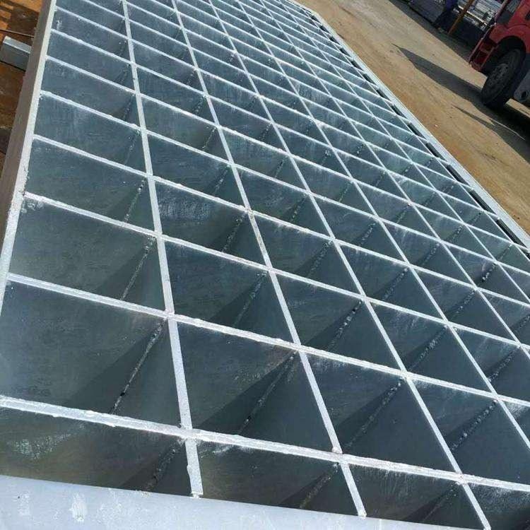 格栅板Q235材质镀锌钢格版工业平台质地好钢格板下水道格栅盖板梯踏板