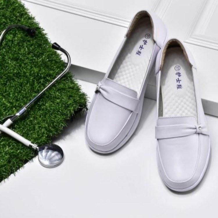 白色护士鞋坡跟韩版防滑秋冬季底女鞋透气软底皮鞋牛筋2019新款