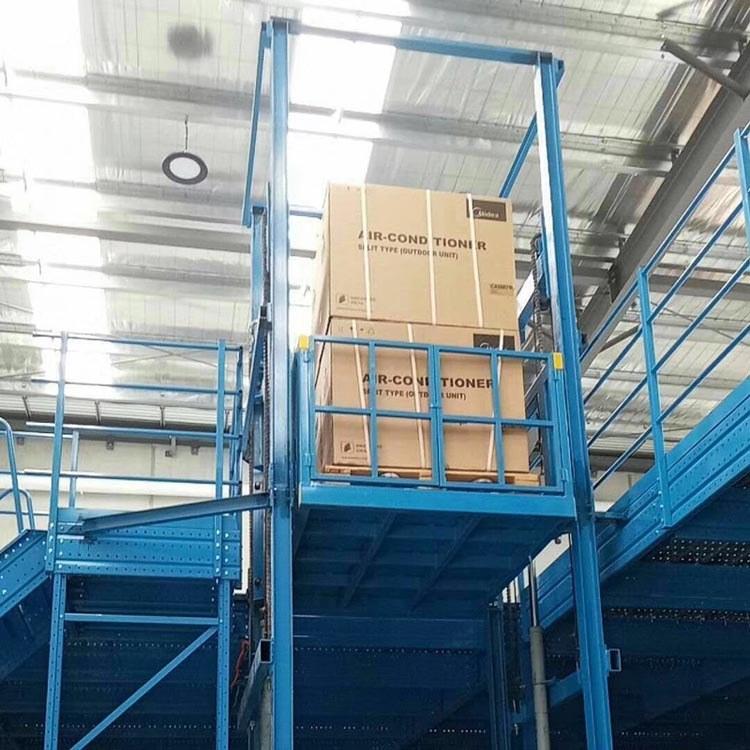 1/20吨链条液压升降货梯 厂房导轨式升降平台