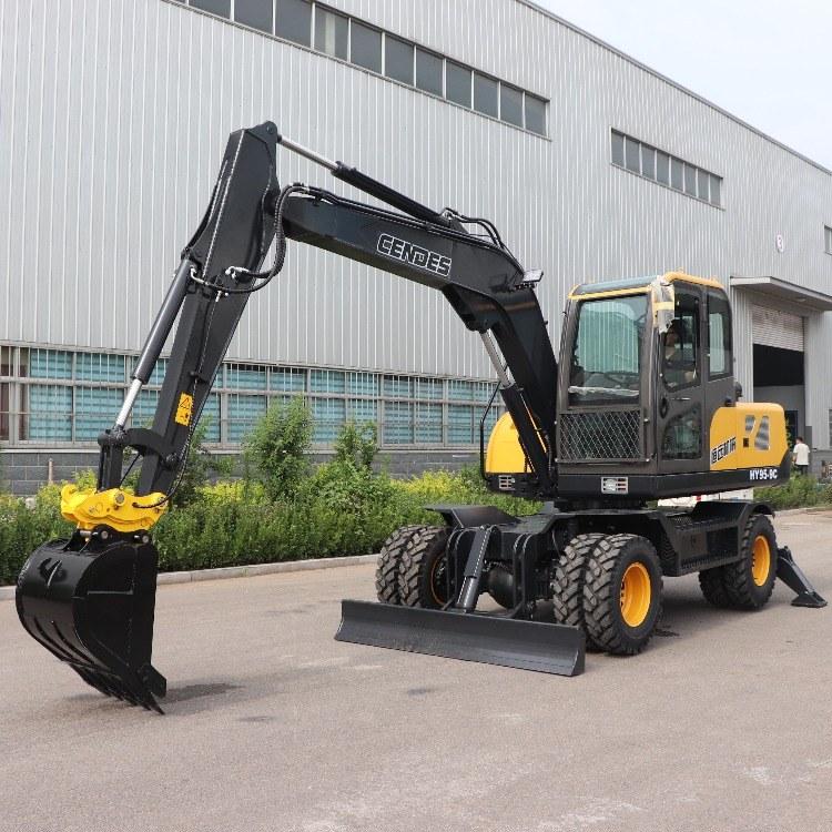 多功能轮式挖掘机 灵活高效市政园林轮挖 整机质保恒远机械