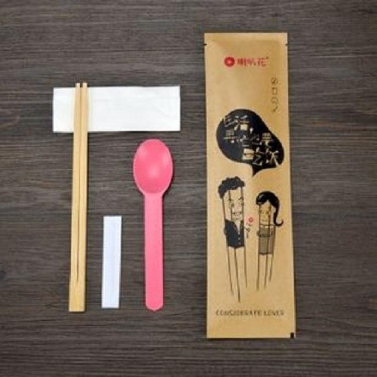福州易企印 餐饮外卖餐具包装设计 一次性打包餐具包装制作 个性外卖袋子定制