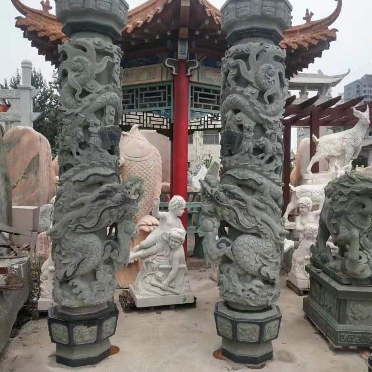 厂家供应石雕龙柱 华表厂家  石雕十二生肖柱 石雕华表 广场柱  寺庙龙柱