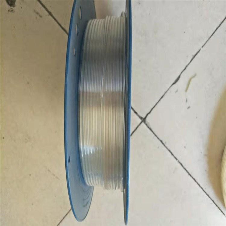 德利生产食品级钢丝PU管白色透明PU管抽吸输送软管厂家