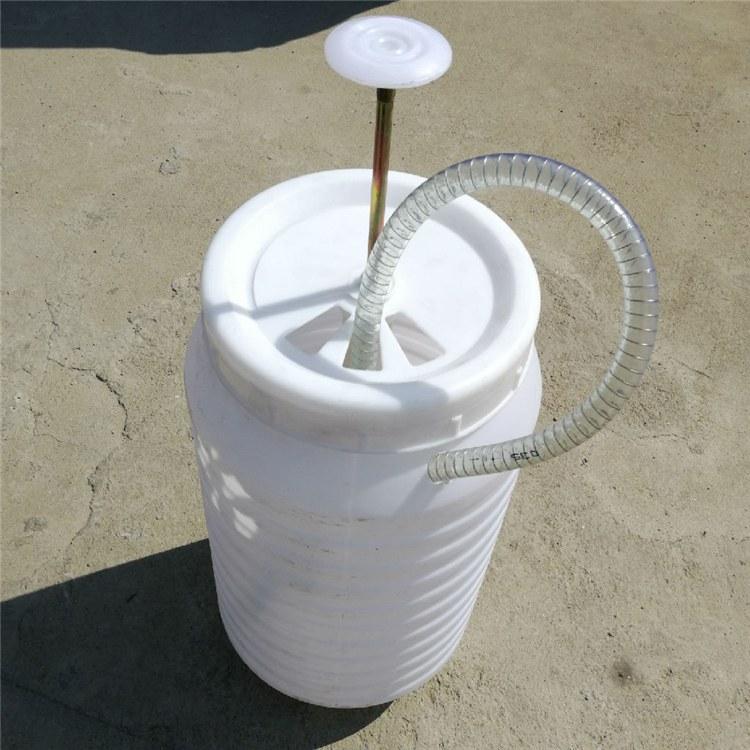 旱厕改造脚踏式保温层冲水桶 高压冲厕桶 塑料防臭阀弯头