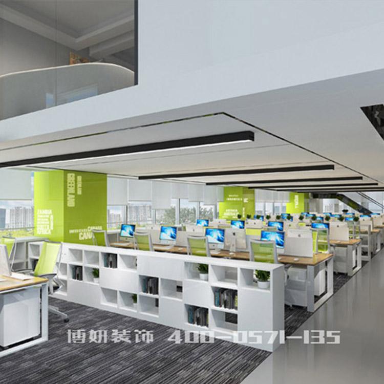 杭州江干区办公室装修设计技巧-办公室装修效果图-博妍装饰