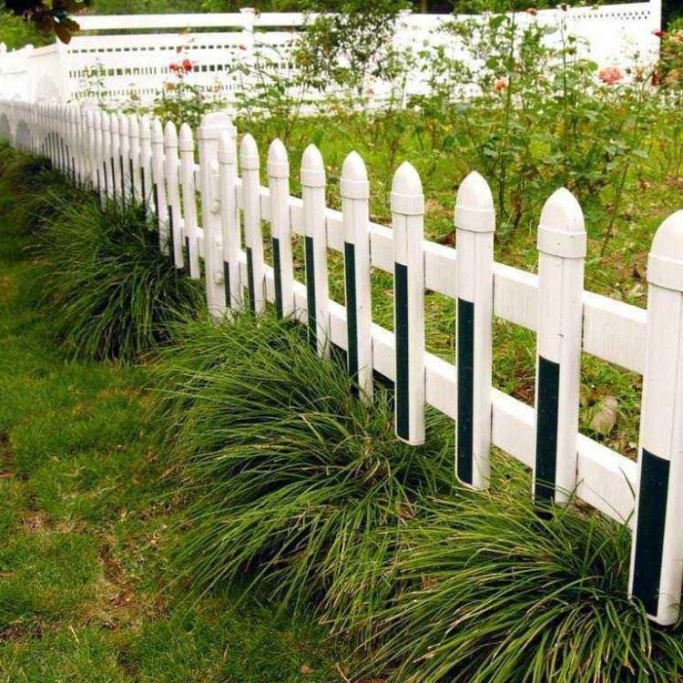 厂家直销 pvc草坪护栏 塑钢园艺草坪围栏 别墅小区防护栏