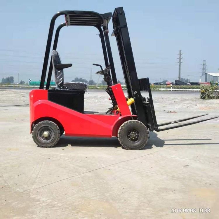 环保电动叉车四轮座驾式电叉车全自动升降铲车1吨升高搬运电动车