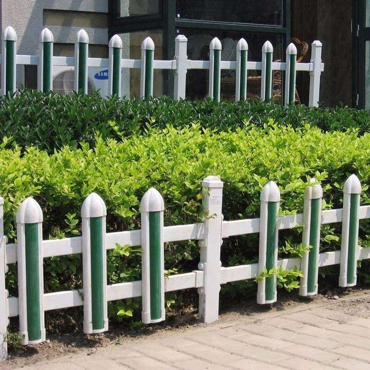 草坪护栏栅栏围栏户外花园围栏庭院栅栏绿化栏杆塑钢pvc护栏