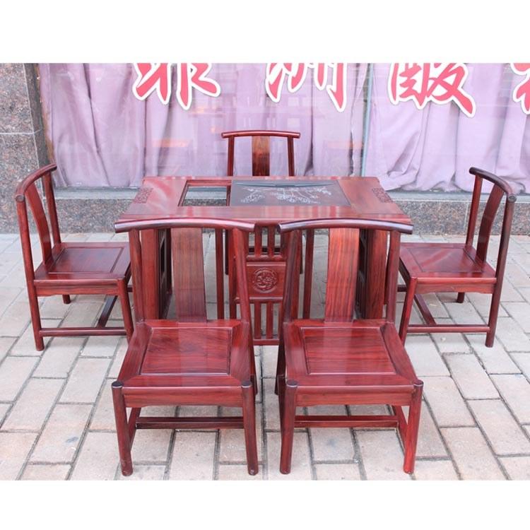 福联居红木茶台酸枝泡茶桌实木茶桌椅组合家具